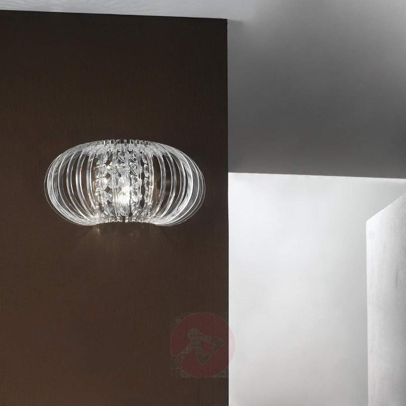 Elias Crystal Wall Light Rounded - Wall Lights