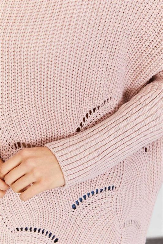 Women's Tunic Sweater Powder - Knitwear Tunic