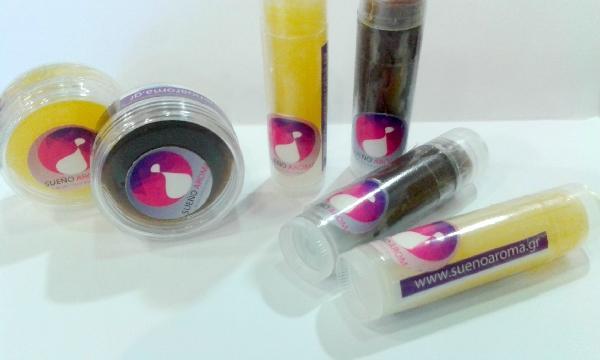 Χειροποίητο lip balm με αγνό μελισσοκέρι - Lip balm stick • Lip balm βαζάκι