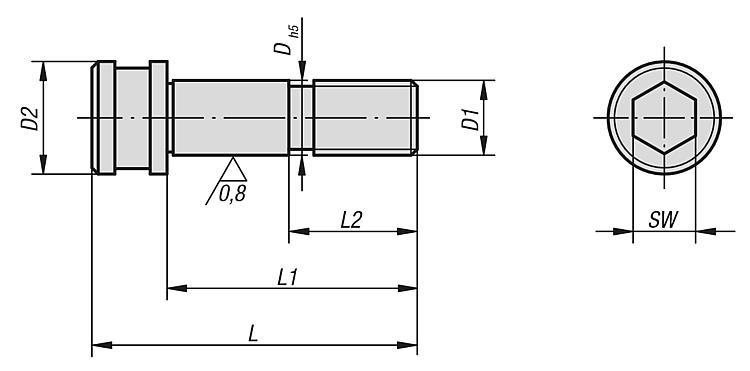 Vis CHC rectifiée 5 axes UNI lock à pas de 80 mm - UNI lock Pas de 80 mm