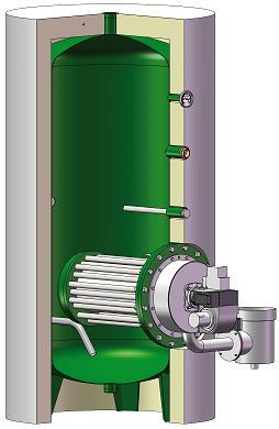 Générateur ECS - Accumulateur à gaz à condensation ECO GAZ ATL ou INOX