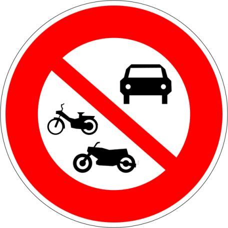 Panneaux B7a Et B7b Interdiction D'accès Aux Véhicules À Moteurs - Balisage De Chantier Et Panneaux Routiers