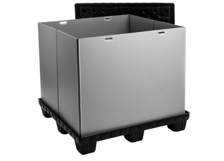 Mega-Pack 1140 Con - Faltbarer Großbehälter: Mega-Pack 1140 Con, 1140 x 1140 x 1000 mm