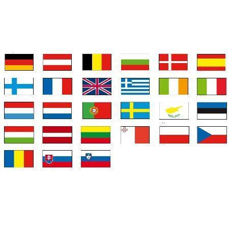 Pavillons Officiels Des Pays De L'europe À Hisser - Cérémonies Officielles