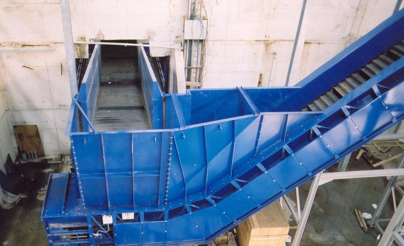 INFEED CONVEYORS FOR SCRAP AND SOLID WASTE SYSTEMS - Z-BAND