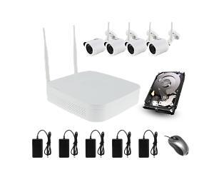 Kit cámaras Iberotec FULL HD 1080p wifi  - con grabador NVR y disco duro 1 Tb