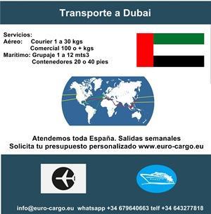 Transporte a Emiratos Arabes - Desde España y otros países de la Unión Europea