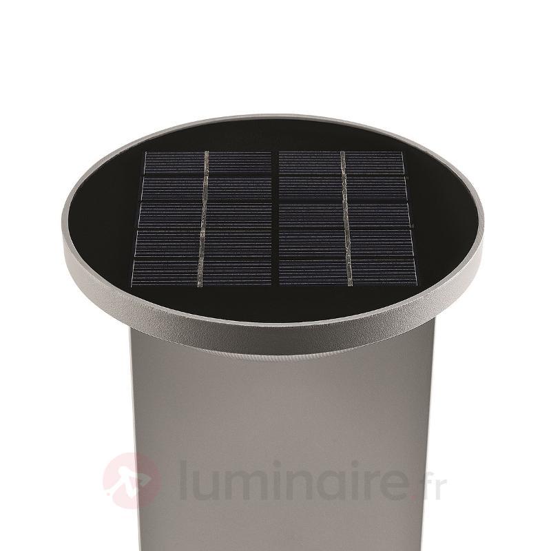 Borne lumineuse solaire LED Dusk, gris - Toutes les lampes solaires