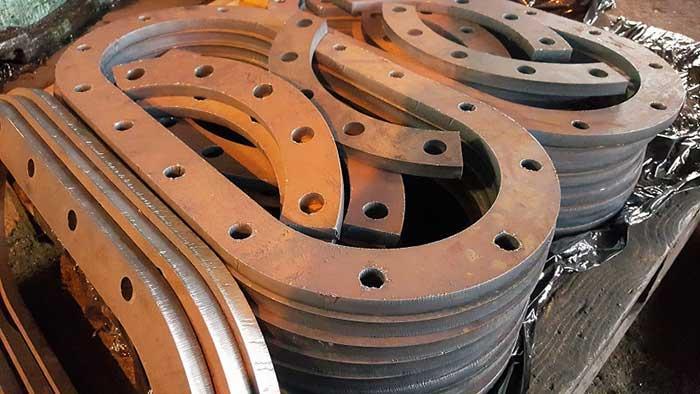 CNC gas cutting -