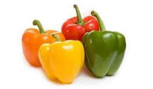 capsicum - Types: Green,Red and Yellow
