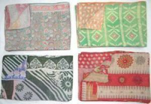 Indian Cotton Kantha Quilts -