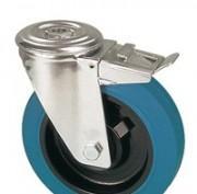 Roulettes bandage caoutchouc élastique vulcabisé bleu -