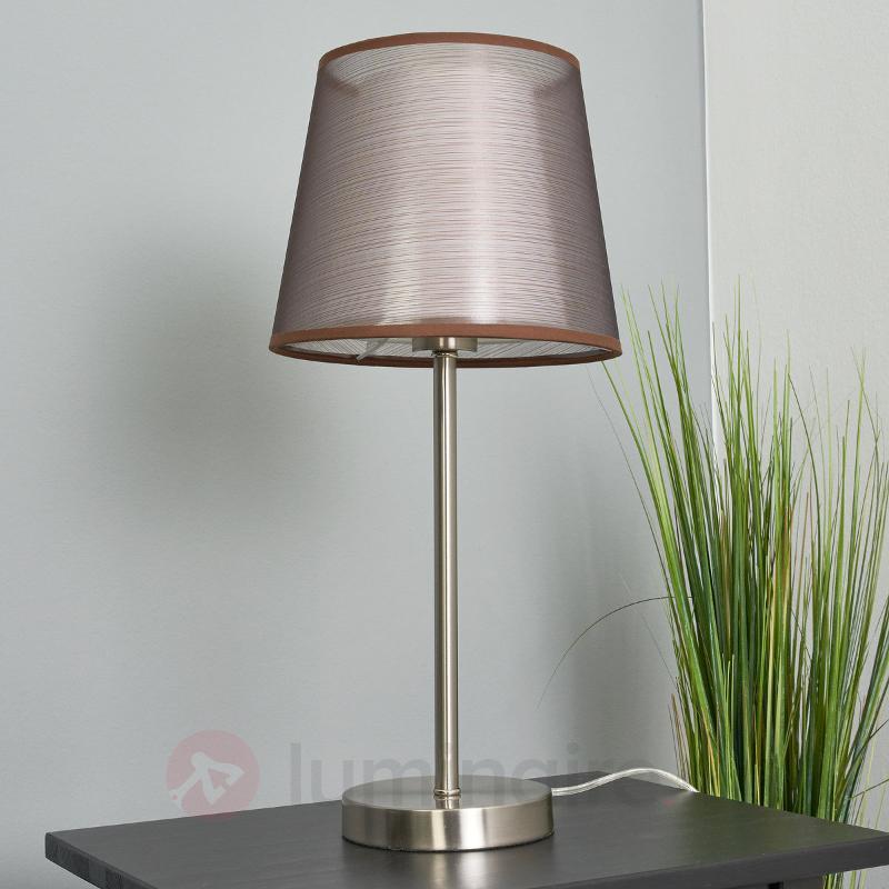 Lampe à poser en tissu marron Weni - Lampes à poser en tissu