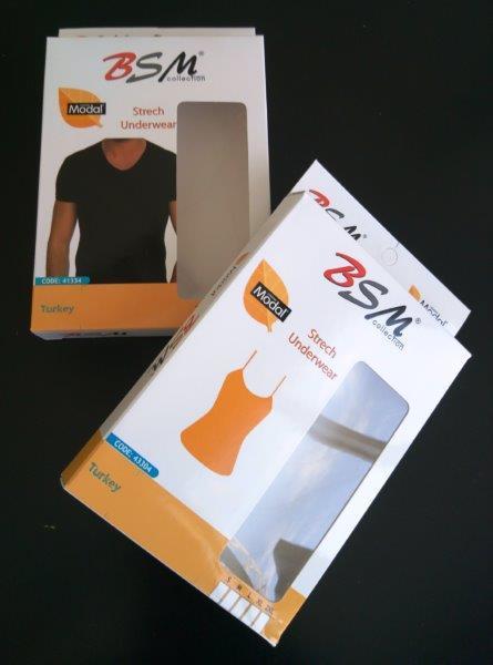 confezionamento di biancheria intima - Imballaggio in cartone, cartone ondulato o laminato