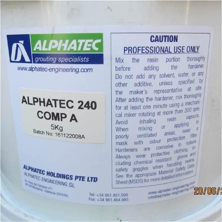 ALPHATEC 240 epoxy putty system