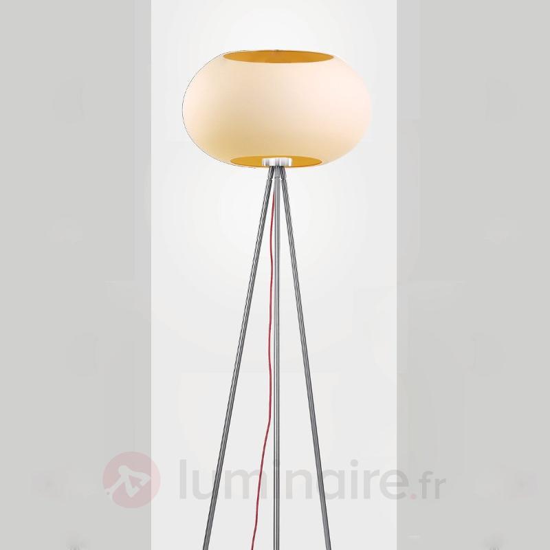 Lampadaire design moderne KEY ambre - Lampadaires design