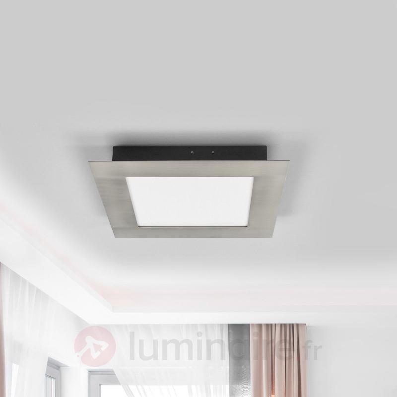 Plafonnier LED couleur nickel Deno - Plafonniers LED