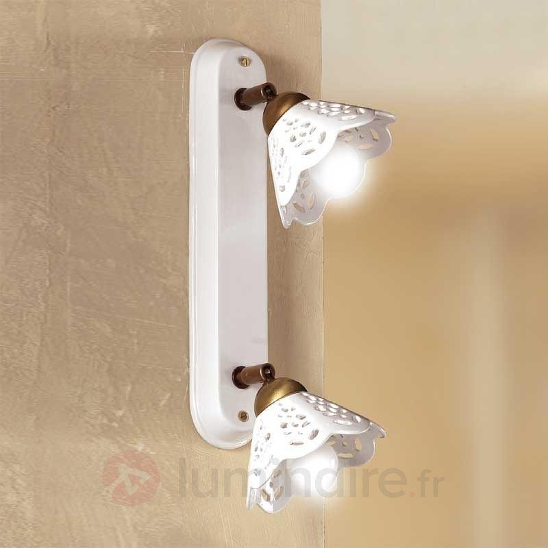 Applique ou plafonnier PORTICO à 2 lampes - Appliques rustiques