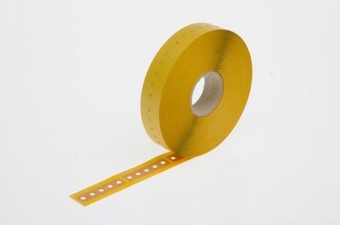 radial tape connector, self-adhesive paper, 16 x 63... - radial tape connector made from Steierform 87-30118, brown