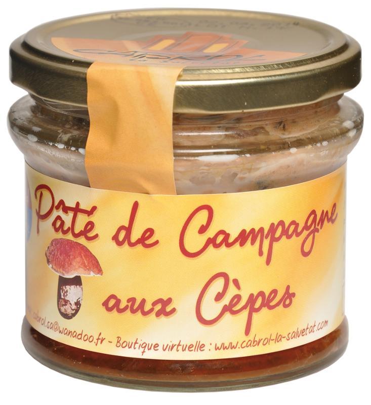 Pâté de Campagne aux Cèpes (Bocal en verre) - Epicerie salée
