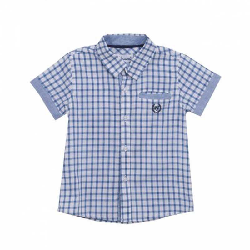 Camisa cuadros azules - 3-10 años