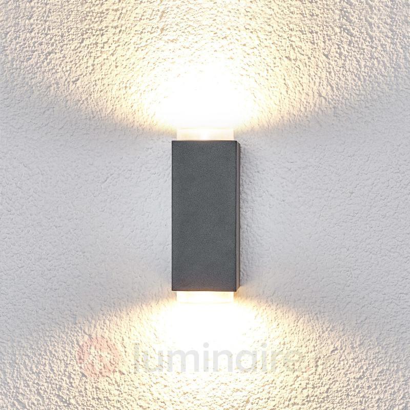 Applique d'extérieur Jovan à 2 lampes, gris foncé - Toutes les appliques d'extérieur