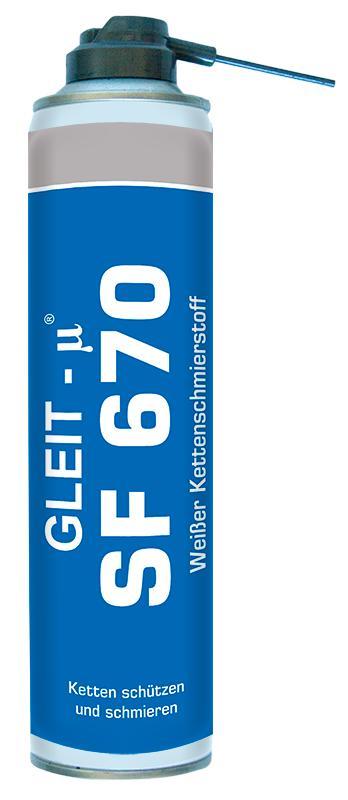 Weißer Kettenschmierstoff - GLEIT-μ® SF 670