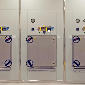 Double Door Autoclaves - 400L Pass-Through Steam Heated