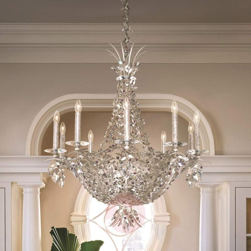 Splendid chandelier Amytis in antique silver - design-hotel-lighting