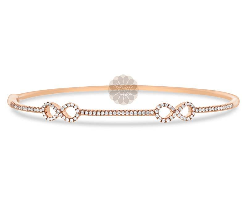 Rose Gold Infinity Bangle
