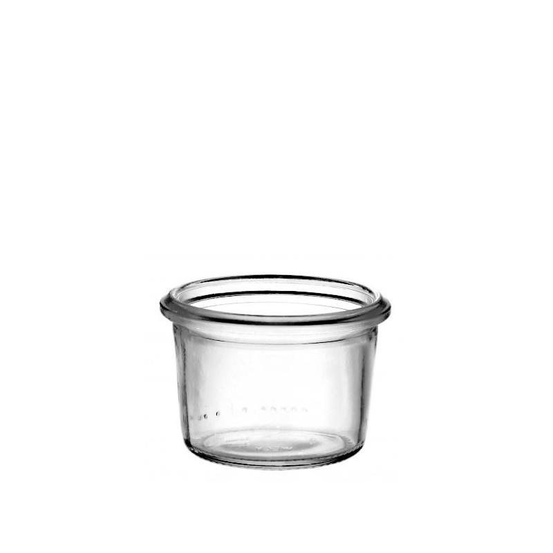 6 bocaux WECK Droits 50 ml, sans couvercle ni joint (diam. 60 mm) - Bocaux Weck DROIT®