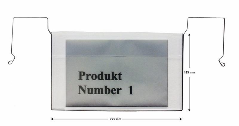 ZÁVĚSNÁ KAPSA S DRÁTĚNÝM ÚCHYTEM A5 - DRATHBÜGELTASCHE - Označovací vývěsky A5 s klopou a bez klopy.