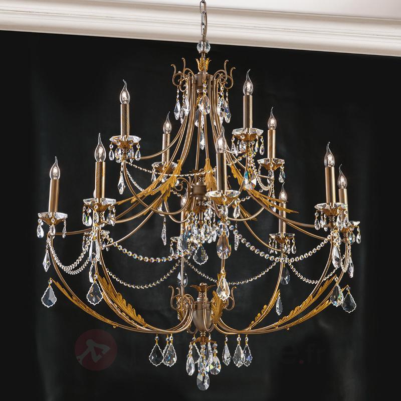 Lustre à deux étages Miramare à 12 lampes - Lustres en cristal
