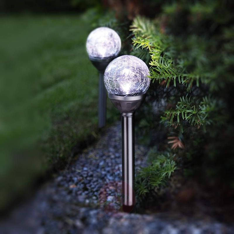 LED solar light rods with spheres set of 2 - outdoor-led-lights