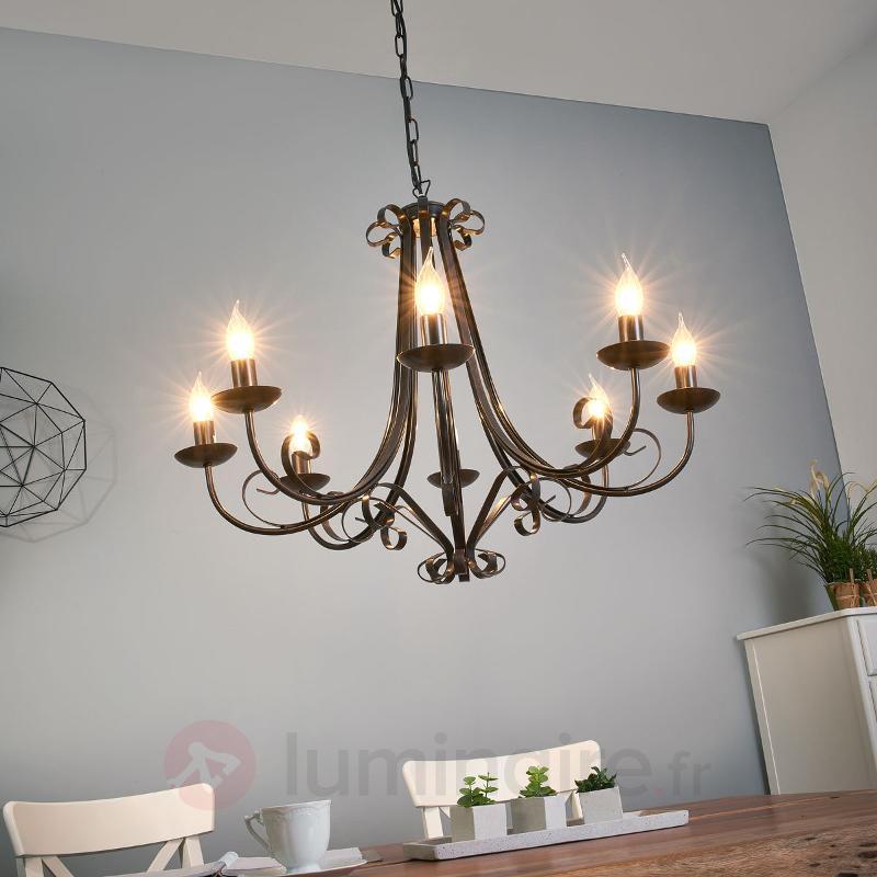 Lustre ROMA à 8 lampes de style rustique - Lustres rustiques