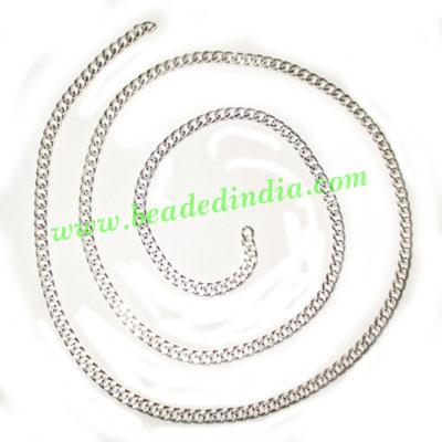 Silver Plated Metal Chain, size: 1x3.5mm, approx 39.2 meters - Silver Plated Metal Chain, size: 1x3.5mm, approx 39.2 meters in a Kg.