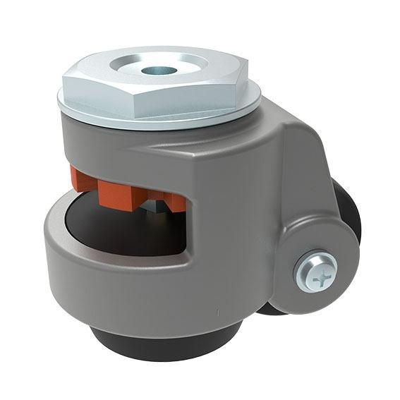 leveling castor - Reliable leveling castor with mounting plate modular dimension 40 & 45 mm