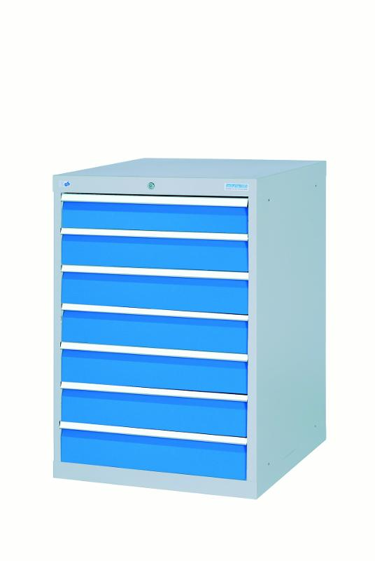 Drawer cabinet with 7 drawers, equal front height - 580/0700V10A