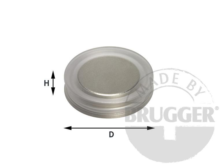 Magnets for glass boards of Neodymium (NdFeB), round - null