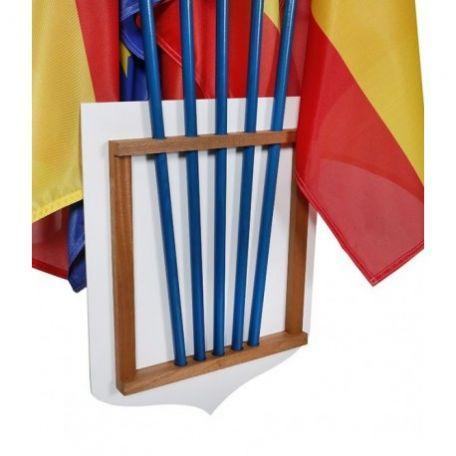 Écusson Porte-drapeaux Tricolore Personnalisable + Liberté Égalité Fraternité - Cérémonies Officielles