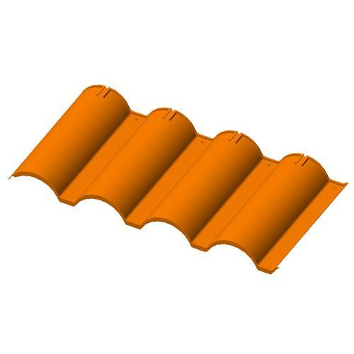 Spanish Plastic Rooftile - Engineered Modular Plastic Rooftile System
