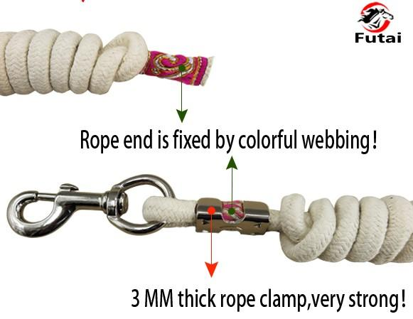 cotton horse lead rope ,pet's lead rope,13MM thick - horse lead rope,pet's lead rope,cotton material
