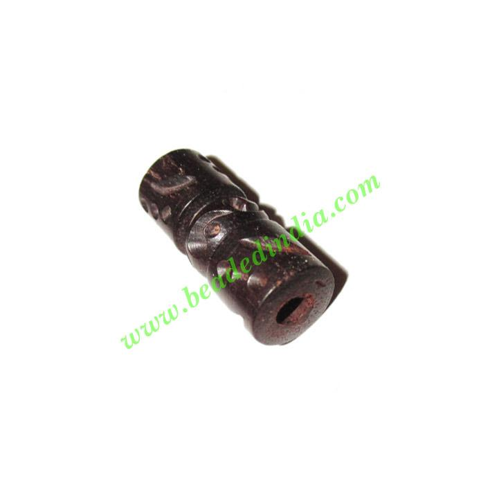 Wooden Ebony Beads, color black, size 10x25mm, weight approx - Wooden Ebony Beads, color black, size 10x25mm, weight approx 2.18 grams