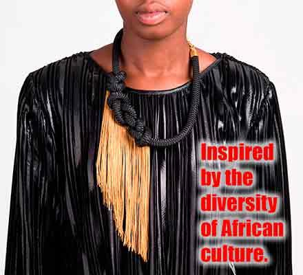 Collares africanos - Fabricamos y comercializamos camisetas africanas, arte africano.
