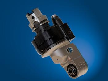Offset spindle, input coolant through machine taper, output through tool spindle - TAO10.PD