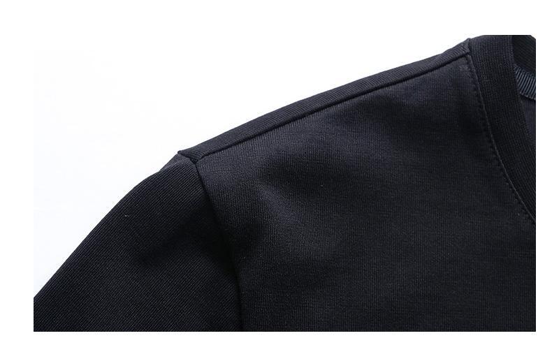 Cotton men's round neck printed long sleeve shirt - men's long sleeve shirt with cotton materail