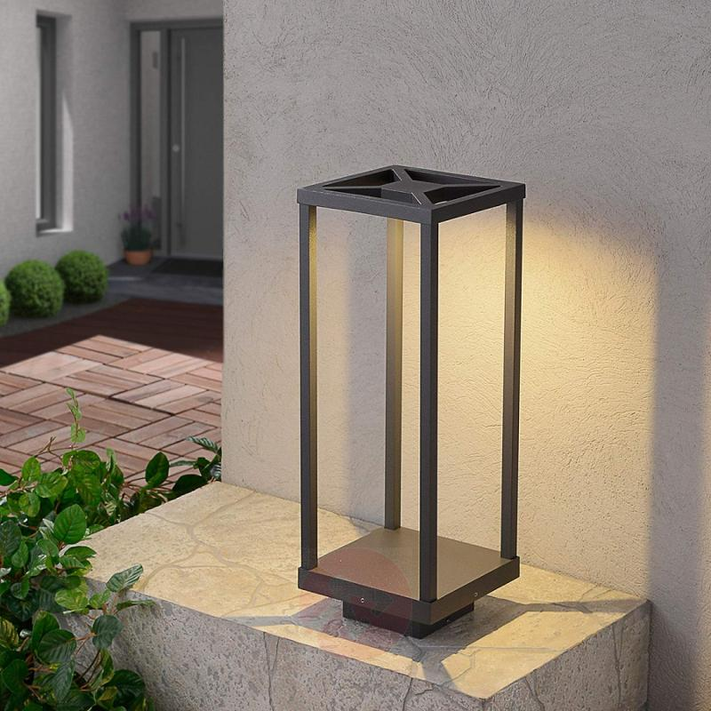 Lealand - LED pillar light, 50 cm - outdoor-led-lights