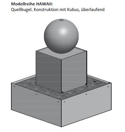Cuboid fountain corten steel model HAWAII - null