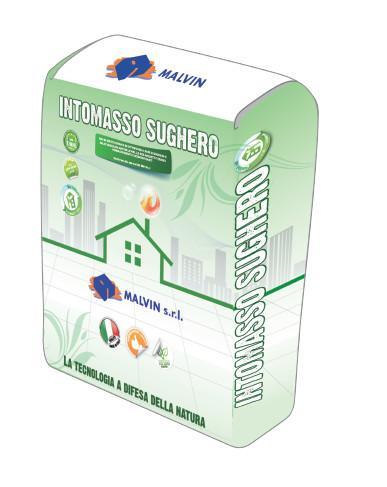 Bio-malta fibrata certificata INTOMASSO SUGHERO  - Conforme alla norma UNI EN 459-1 - ANAB-ICEA secondo la UNI EN 14024