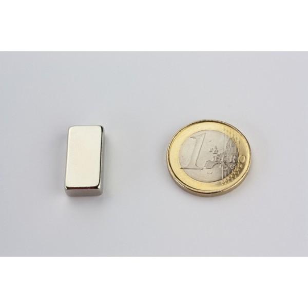 Block magnet, Neodymium, 20x10x5mm, N42, Ni-Cu-Ni,... - null